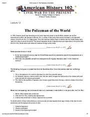 H102 Lecture 12_ The Policemen of the World