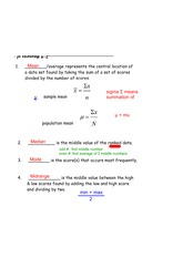 meaasures of central tendency notes