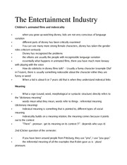 Ling 370 Ch 10 Entertainment Industry Outline
