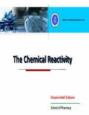 2016 01 25 Chemical Reactivity