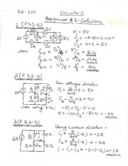 EE 220 Assignment 3 Solutions