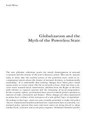 Linda Weiss  Globalization and the Myth of the Powerless State, NLR I_225, September-October 1997.pd