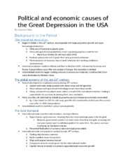 (1-2) Political and economic causes of the Great Depression in the USA