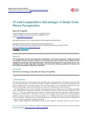 IT and Competitive Advantage.pdf