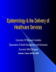 8544- 1- Epidemiology & the Delivery of Healthcare Services.ppt