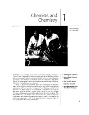 Chapter 01 - Chemists and Chemistry