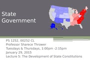 Lecture 5_PS1252_Spring2015_The Development of State Constitutions