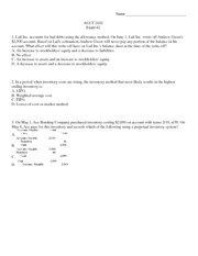 ACCT 2103 Exam #2 w/ answers