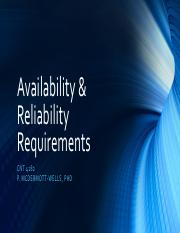 Topic 05B -Availability & Reliability Requirements.pdf