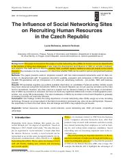 The Influence Of Social Networking Sites in Czech.pdf