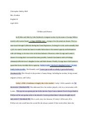 Of Mice and Men Cause and Effect Paper.docx