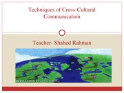 Chapter 16-Techniques of Cross-Cultural Communication