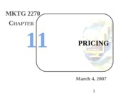 Intro Mktg - 08 - Pricing - ch 11