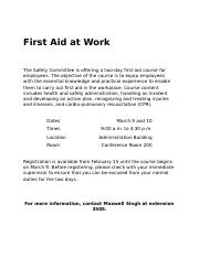 FirstAidCourse