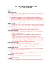 Intre to Global Issues Final Study Guide.docx