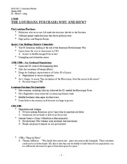 Lecture 4(Louisiana Purchase How and Why)