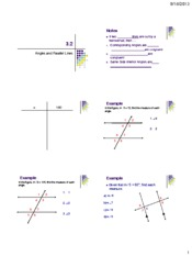 3.2 Angle Parallel Lines Notes