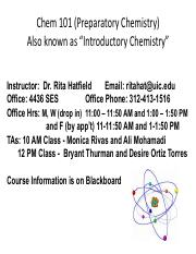 Chem 101 Lecture 1 Notes Fall 2016 - Chem 101(Preparatory