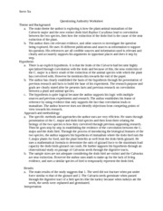Questioning Authority Worksheet
