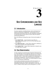 Chapter 3 - Sex Determination & Linkage