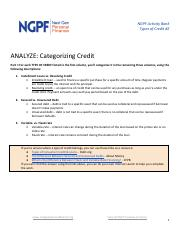 4= - NGPF Activity Bank Types of Credit#2 ANALYZE