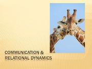 2011 Chapter 8 Communication and Relational Dynamics Student Version
