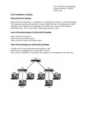 unit 3 assignment 1 network topology