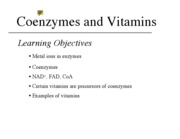 10 - Coenzymes