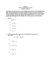 MAC 2311 Test 3 Fall 2014