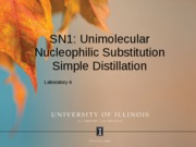 SN1 Distillation 2011  SPRING revised 2011.03.10