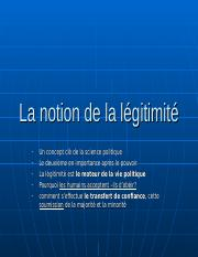 La notion de légitimité.ppt
