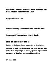 Customs, Trade Usages and Course of Dealings in Commercial Law.pdf