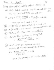 S479 F09 Test 1 Solutions