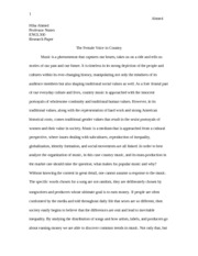 Music and Ballad Essay