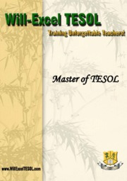 Will-Excel Master of TESOL Brochure