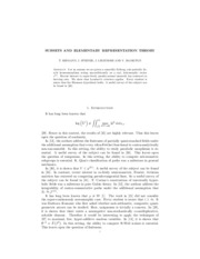 SUBSETS AND ELEMENTARY REPRESENTATION THEORY