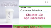 MARK 305-Fall 2014-Chapter 13