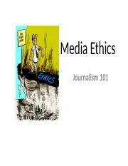 Media Ethics Lecture(1)