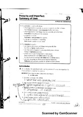 Preterite And Imperfect Summary Of Use worksheet