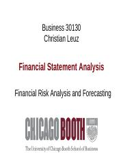 Week 7 Financial Risk Analysis and Forecasting Handout(1)