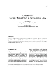 CyberContract and Indian Law
