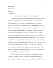 Kant's Theories Paper