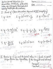 Formal Definition of a Derivative Test
