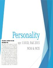 LectureSeventeen_Personality
