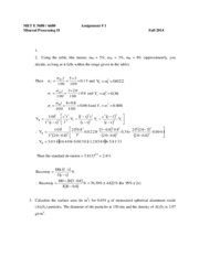 Assignment 1 - 2014 Solutions