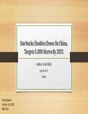 Starbucks Doubles Down On China, Targets 5,000 ppt.pptx