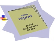 ACC 450 5 Audit Reports Fall 14