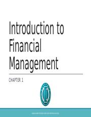 Chapter1_Introduction to Financial Management