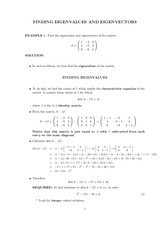 FINDING EIGENVALUES AND EIGENVECTORS