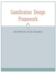 Gamification Design Framework